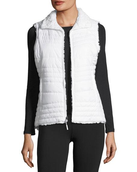 Swirl Reversible Performance Vest, White