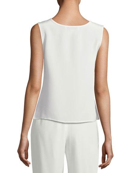 Caroline Rose Plus Size Silk Crepe Tank Top