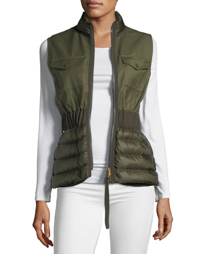 Beryl Semi-Fit Mixed-Media Vest
