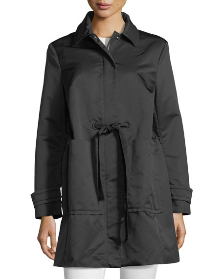 Moncler Epidote Self-Tie Long Utility Jacket