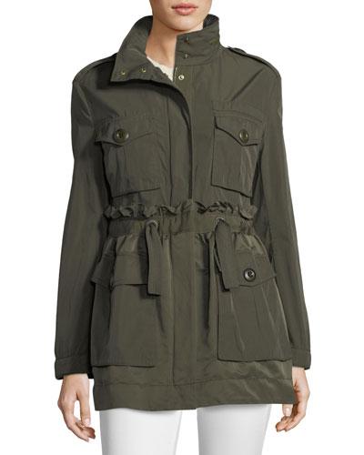 Rhodonite A-Line Self-Tie Jacket