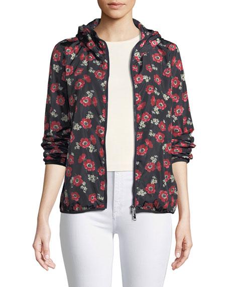 Moncler Larimar Floral Zip-Front Jacket