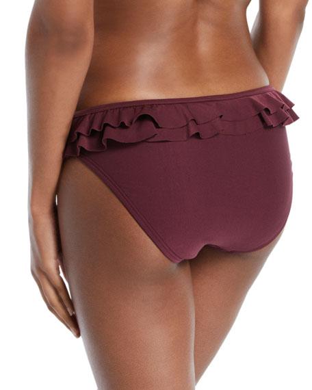 isal vista classic bikini swim bottom with ruffled trim