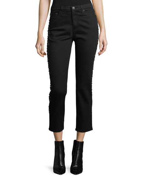 AG Adriano Goldschmied Isabelle Straight-Leg Cropped Jeans with