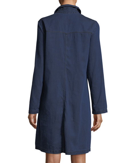 Tencel® Organic Cotton Denim Collared Dress