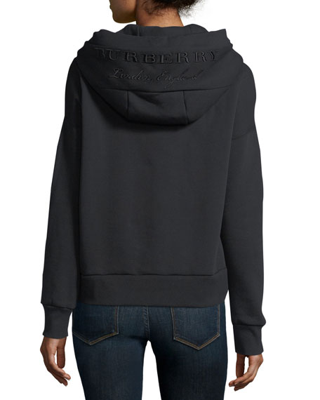 Burberry Branded-Hood Pullover Sweatshirt