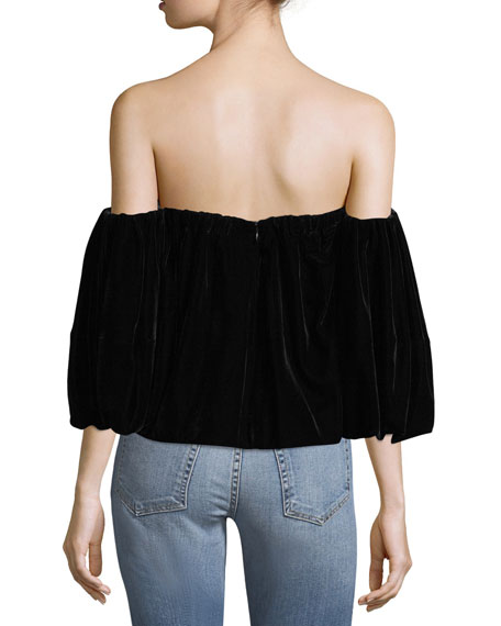 Simmy Off-the-Shoulder Velvet Top