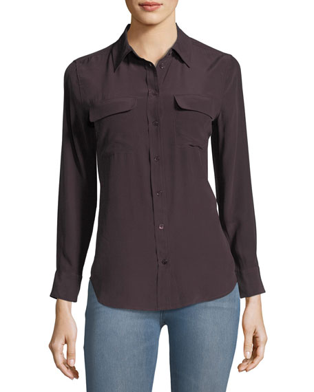 Equipment Slim Signature Long-Sleeve Top
