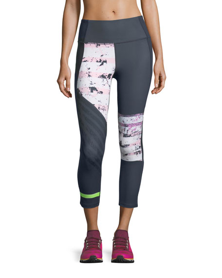 Under Armour Mirror High-Rise Printed Crop Performance Leggings