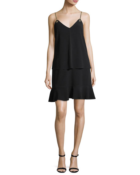 Derek Lam 10 Crosby Layered Camisole Crepe Dress
