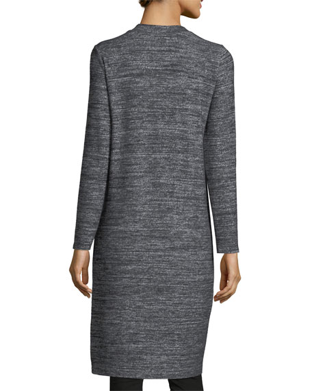 Marled Jersey Open-Front Cardigan
