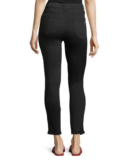 Mito High-Rise Skinny Jeans with Tux Stripes