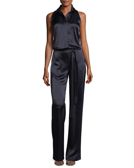 Liquid Satin Sleeveless Jumpsuit