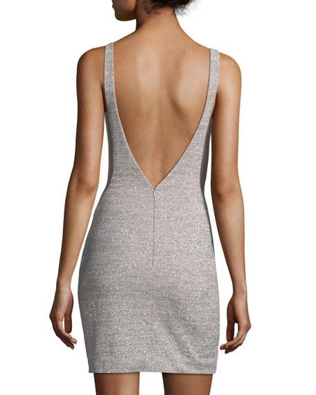 72f699cc Jovani Glitter Deep V-Neck Sheath Mini Dress | Neiman Marcus