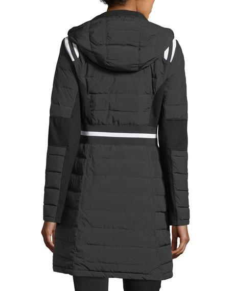 Blanc Noir Stadium Hooded Zip-front Puffer Jacket
