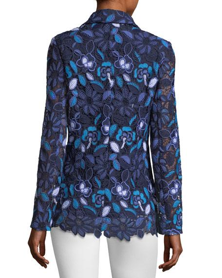 Provence Floral Lace Jacket, Plus Size