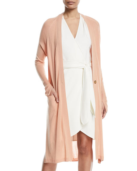 Halston Heritage One-Button Duster Cardigan and Matching Items