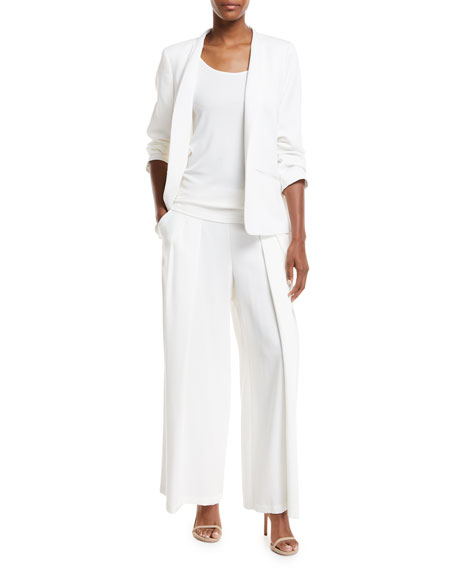 Corded Wide-Leg Drama Pants, Plus Size