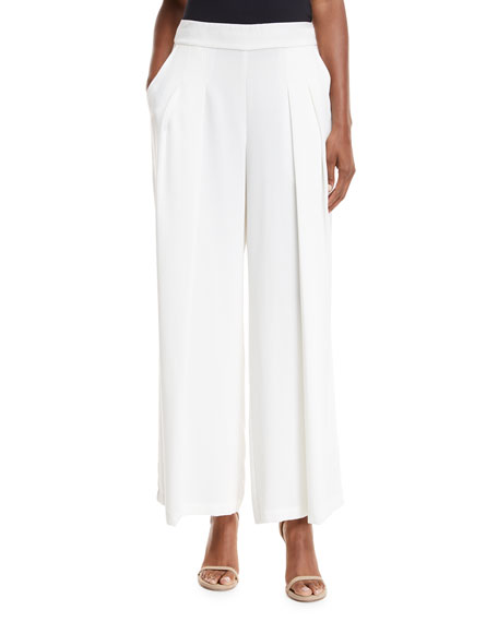 Eileen Fisher Corded Wide-Leg Drama Pants, Plus Size