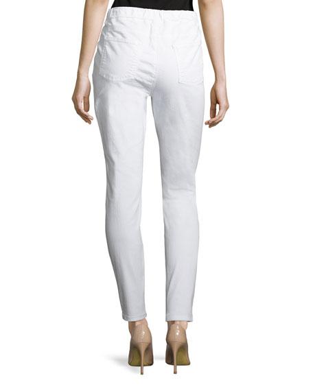 Organic Cotton Stretch-Denim Leggings