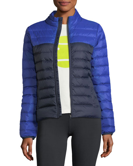Tory Sport Colorblock Packable Down Puffer Jacket