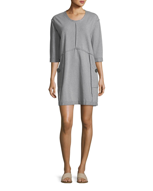 Neon Buddha Palma French Terry Cotton Dress, Plus Size | Neiman Marcus