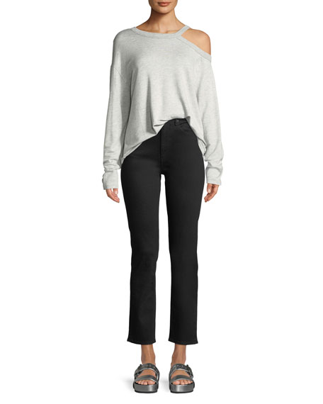 Rag & Bone High-Waist Cigarette-Leg Ankle Jeans