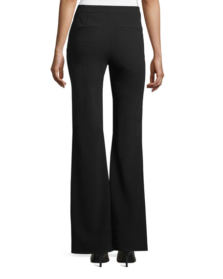 Image 2 of 2: Theory Clean Flare-Leg Admiral Crepe Pants