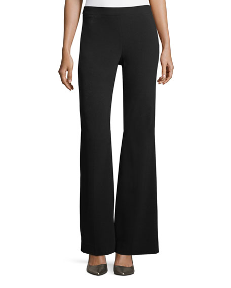 Image 1 of 2: Theory Clean Flare-Leg Admiral Crepe Pants