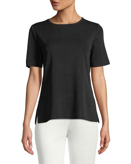 Misook Plus Size Short-Sleeve Shell