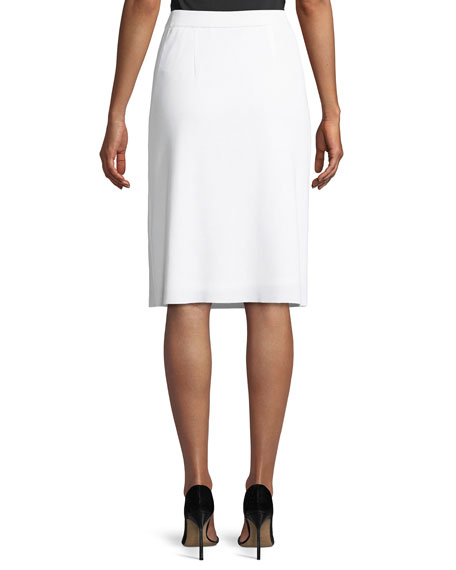 Misook Lined Straight Pull-On Skirt