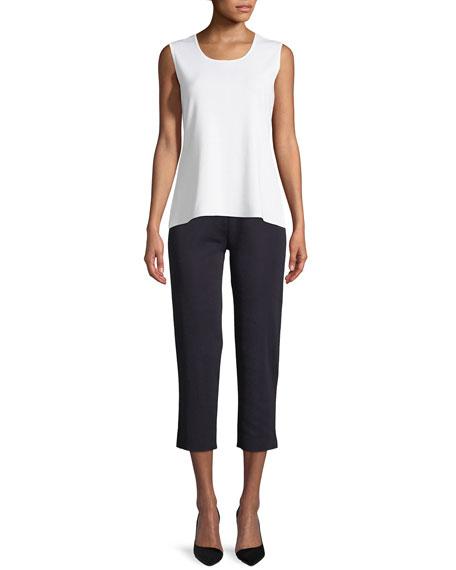 Misook Petite Slim-Leg Knit Ankle Pants