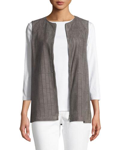 Genesis Luxuriant Perforated Lamb Suede Vest