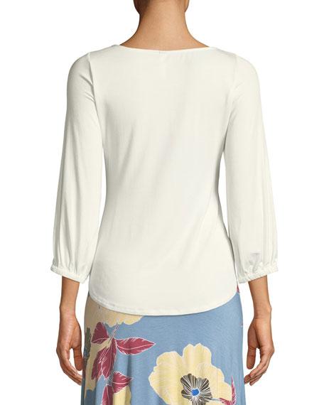 Rachel Pally Plus Size Catalina Tie-Front Jersey Top