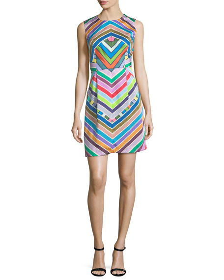 Coco Rainbow Striped Twill Dress