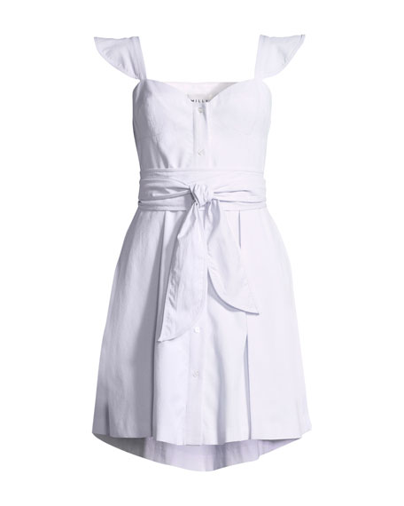 74a1fa97a Milly Classic Seersucker Corset Dress | Neiman Marcus