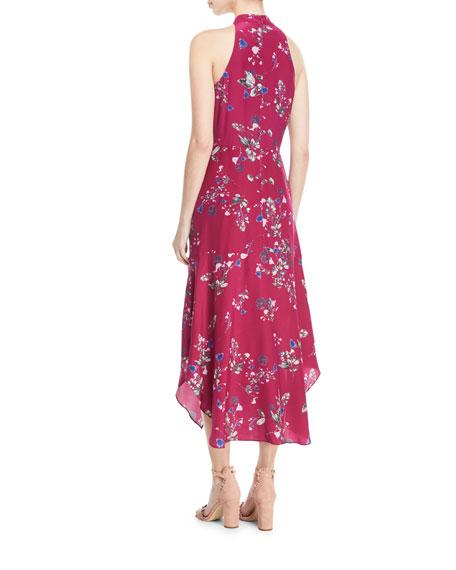 Jagger Floral-Print Ruched Dress