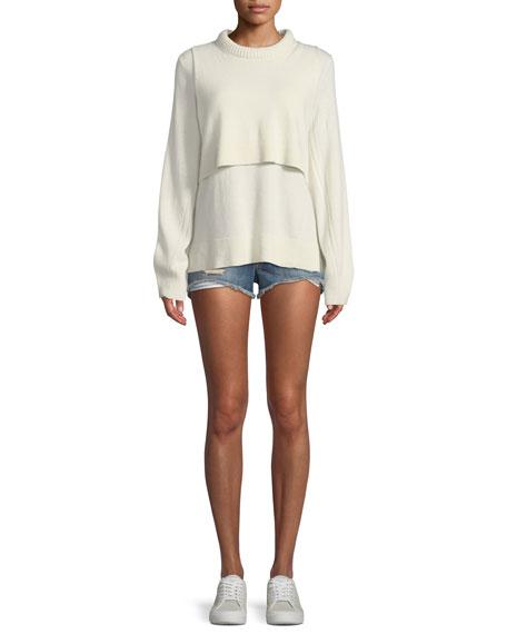 Margaux Cutoff Denim Shorts