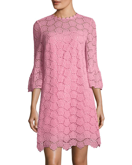 kate spade new york bloom flower bell-sleeve lace