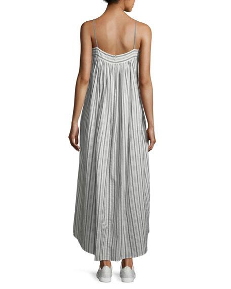 Striped Sleeveless Column Maxi Dress