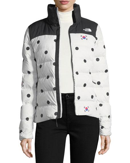Nuptse Relaxed Full-Zip Jacket w/ Dot Print