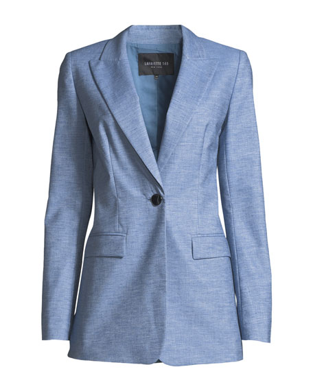 Briley Astute Denim One-Button Jacket
