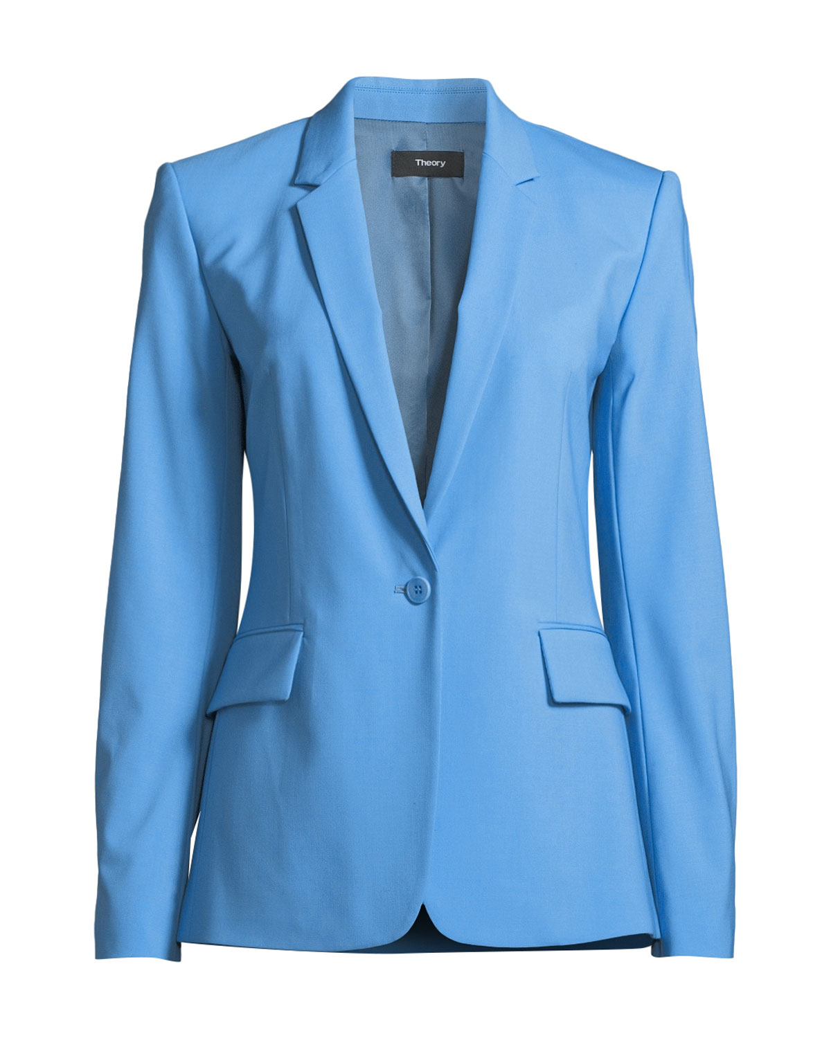 80a160ed65d Theory Essential One-Button Stretch-Wool Jacket   Neiman Marcus