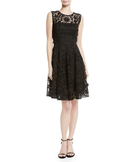 Milly Becky 3D Lace A-Line Dress