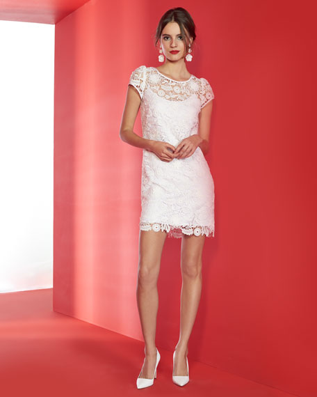 Image 2 of 3: Milly Chloe 3D Lace Dress