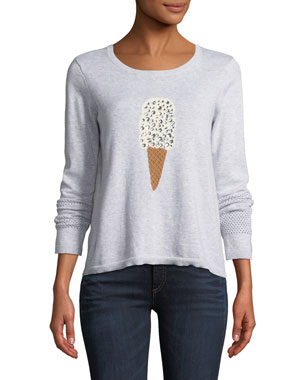 0124151fd6f Lisa Todd Lickety Split Ice Scream Intarsia Sweater