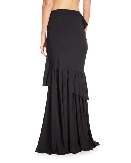 Chiara Boni La Petite Robe Leonarda Tiered Ruffle Maxi Skirt