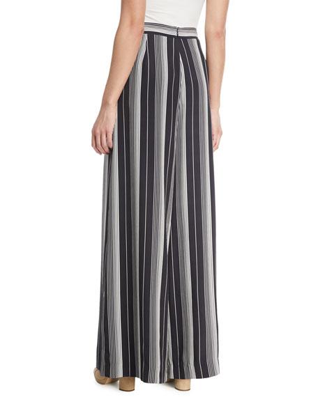 Breeze Wide-Leg Striped Silk Pants