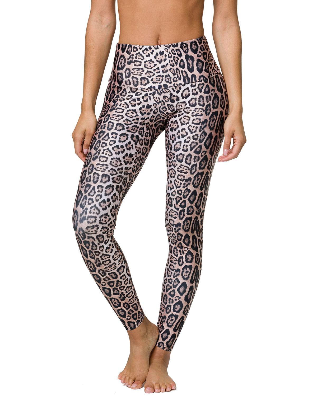 c028482e17 Onzie High-Rise Leggings, Leopard | Neiman Marcus