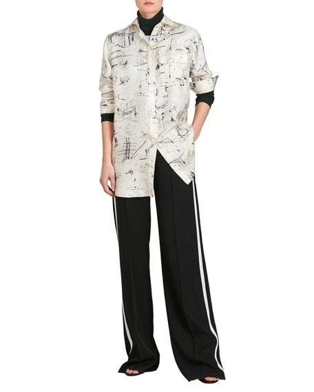 Chava Seaside Mulberry Silk Tunic Shirt